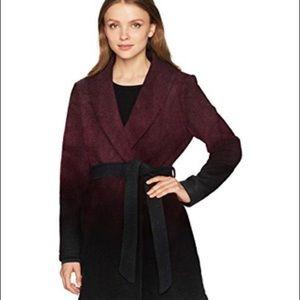 Ombré woolen coat